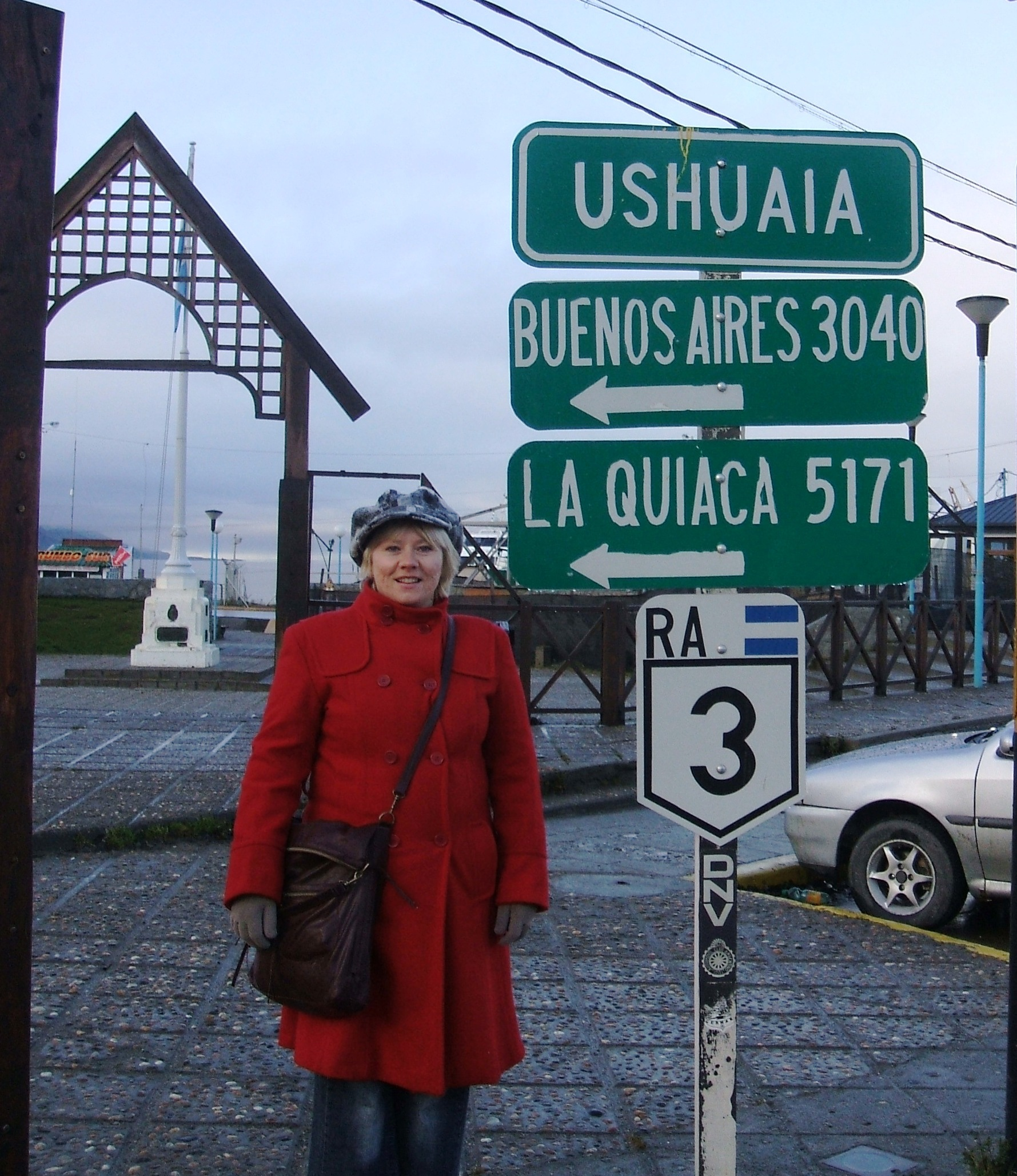 Susana in Ushuaia, the end of the world